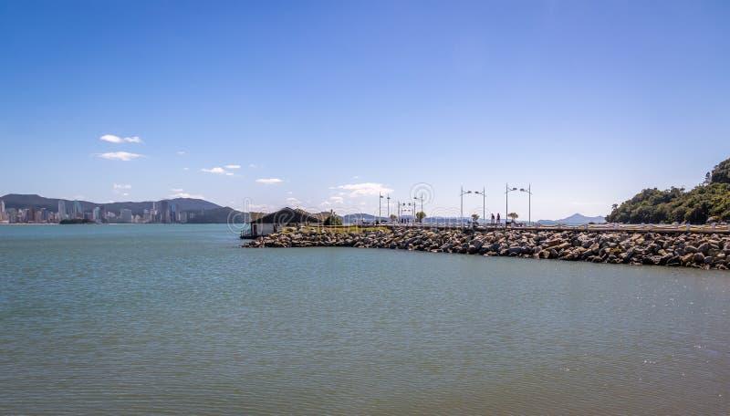 Molhe da Barra Sul falochron - Balneario Camboriu, Santa Catarina, Brazylia obrazy royalty free