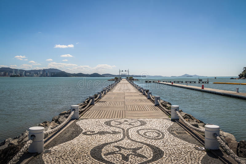 Molhe da Barra Sul falochron - Balneario Camboriu, Santa Catarina, Brazylia zdjęcie royalty free