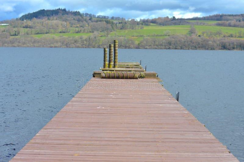 Molhe de Loch Lomond imagem de stock