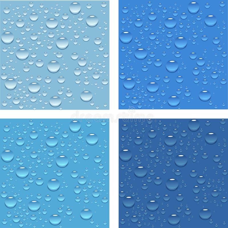 Gotas da água. ilustração royalty free