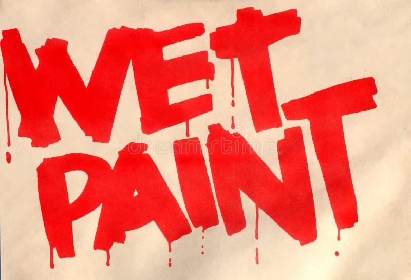 Molhe a pintura foto de stock