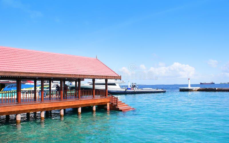 Molhe presidencial em Maldives fotos de stock