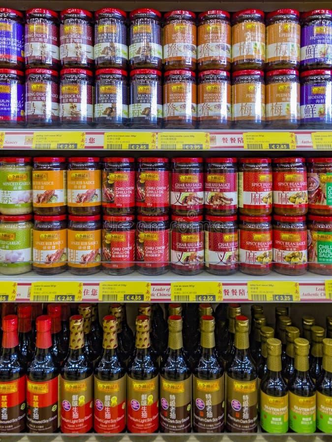 Molho asiático e chinês do alimento imagem de stock
