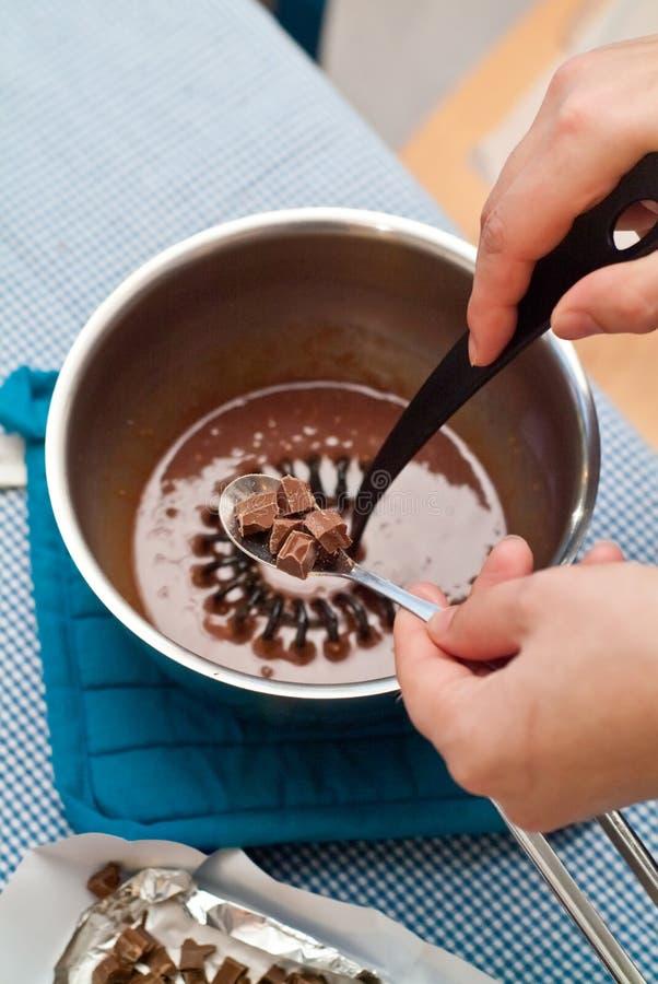 Molho de chocolate foto de stock