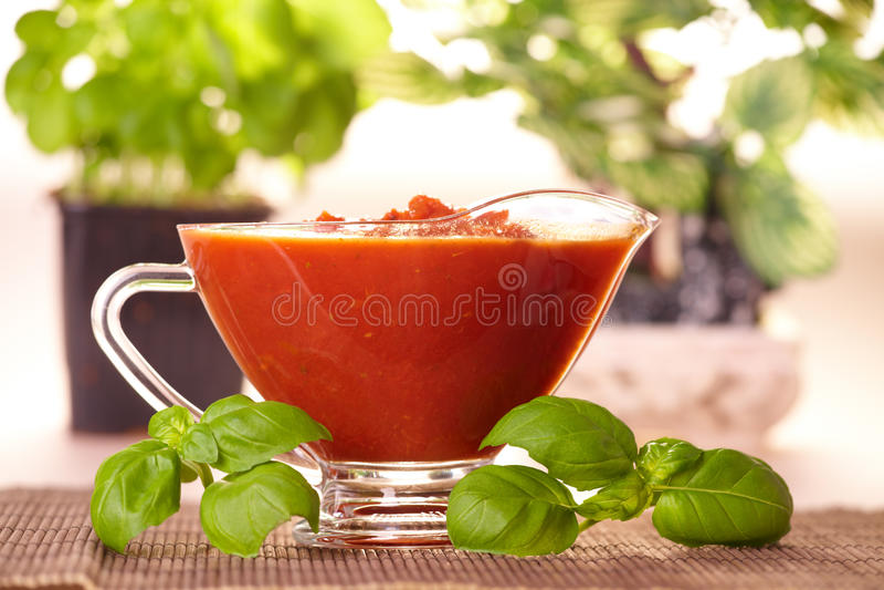 Molho de tomate imagem de stock
