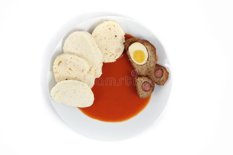 Molho de tomate (alimento checo) foto de stock