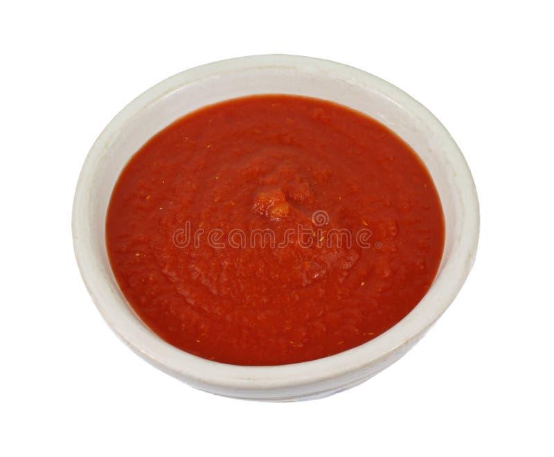 Molho desbastado fresco Pureed do tomate imagens de stock