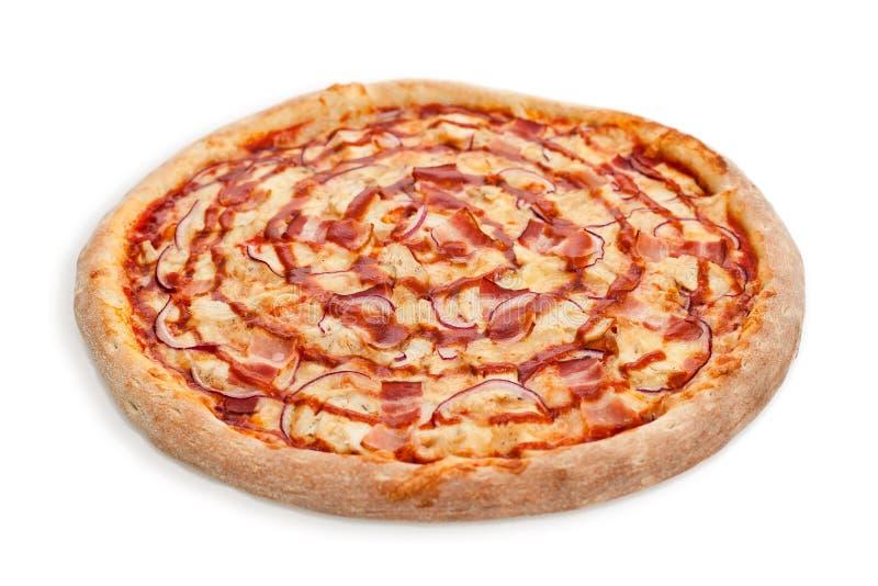 Molho do bacon da pizza foto de stock
