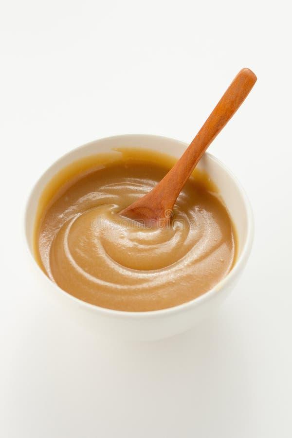 Molho do caramelo imagem de stock
