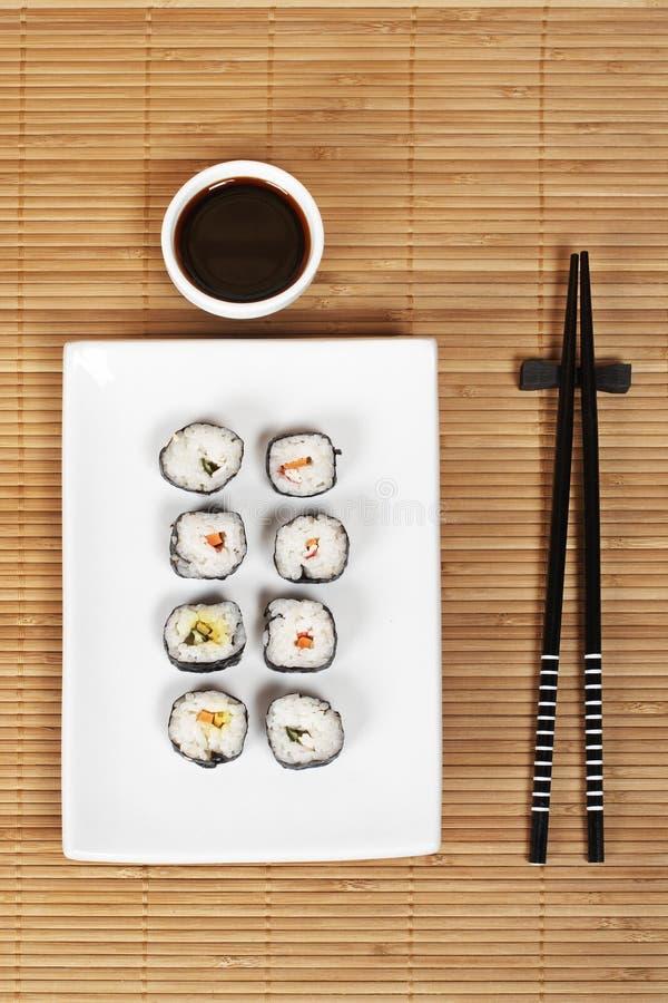 Molho do sushi e de soja imagem de stock