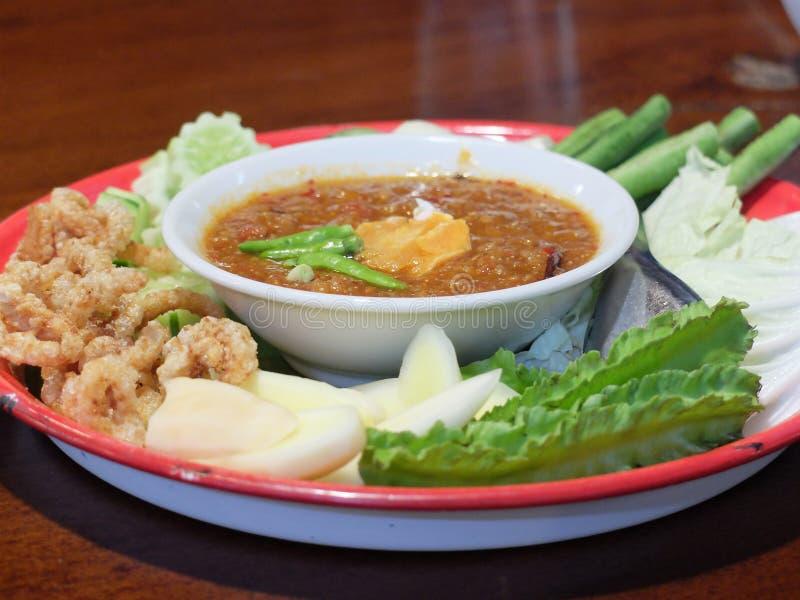 Molho tailandês dos pimentões fotografia de stock royalty free