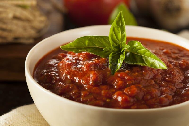 Molho vermelho caseiro de Marinara do italiano imagens de stock royalty free