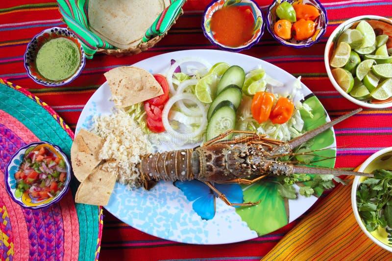Molhos mexicanos do pimentão do marisco da lagosta imagens de stock royalty free