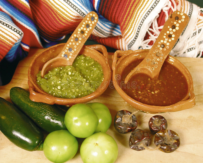 Molhos quentes mexicanos fotos de stock