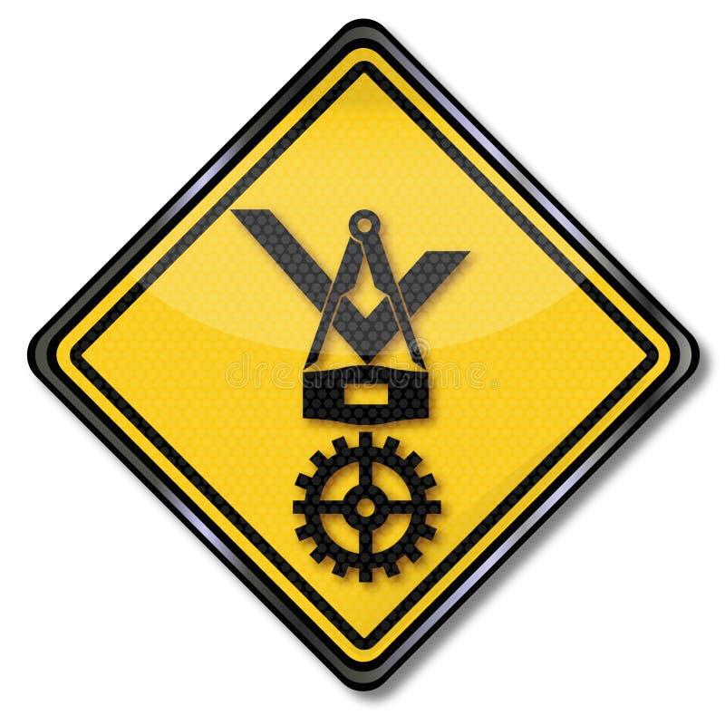 Molinero del escudo del gremio ilustración del vector