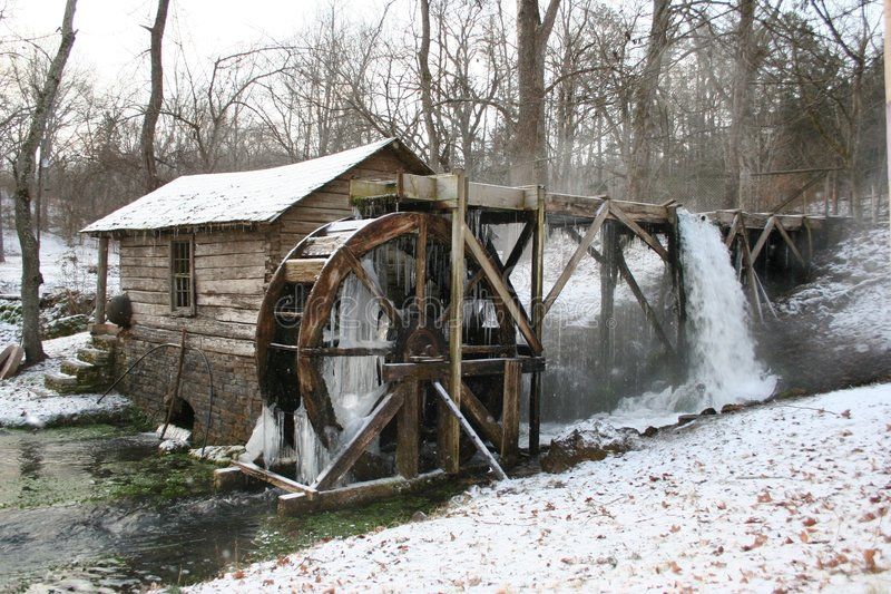 Molino 3 del invierno fotografía de archivo libre de regalías