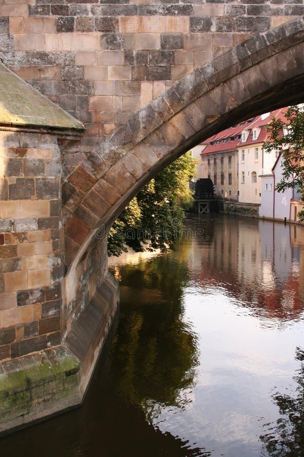 Molino cerca del puente de Charles fotos de archivo