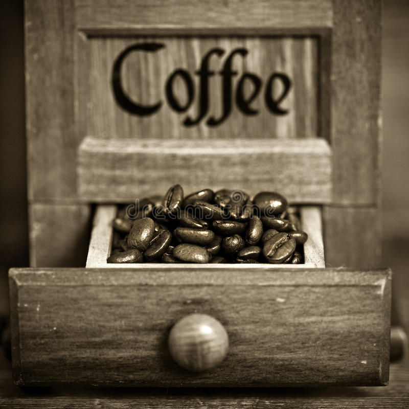 Molino de café de la vendimia foto de archivo libre de regalías