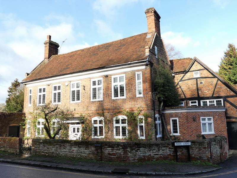 Molino de la ciudad, carril de 191 molinos, Amersham viejo, Buckinghamshire La propiedad era parte de un molino harinero hasta el foto de archivo