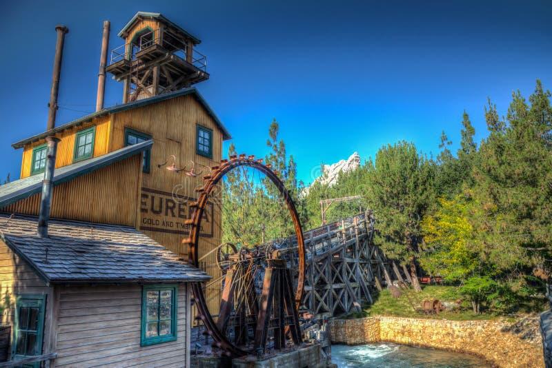 Molino de la madera de construcción de Disney California Eureka fotografía de archivo libre de regalías