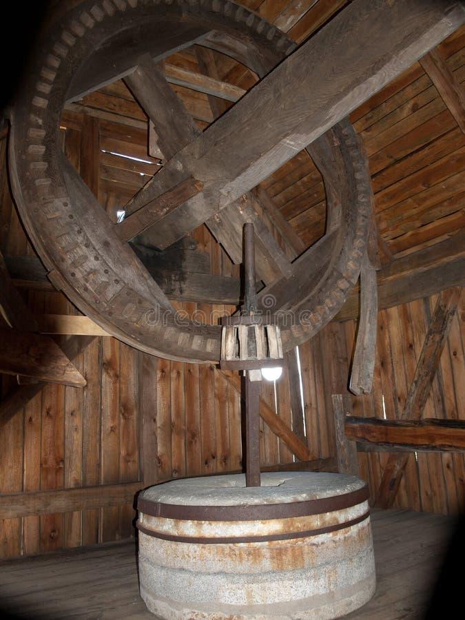 Molino de madera viejo fotografía de archivo