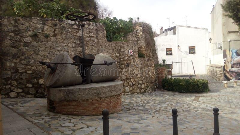 Molino de piedra de Albaida y de x28; Valencia& x29; y x28; Spain& x29; fotografía de archivo