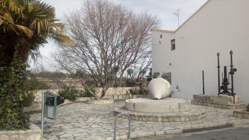 Molino de piedra de Benisoda y de x28; Valencia& x29; y x28; Spain& x29; fotos de archivo libres de regalías