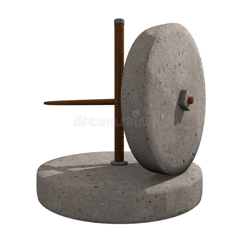 Molino de piedra viejo stock de ilustración