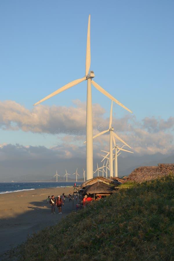 Molino de viento de Bangui fotos de archivo