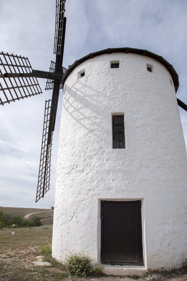 Molino de viento, Campo de Criptana foto de archivo