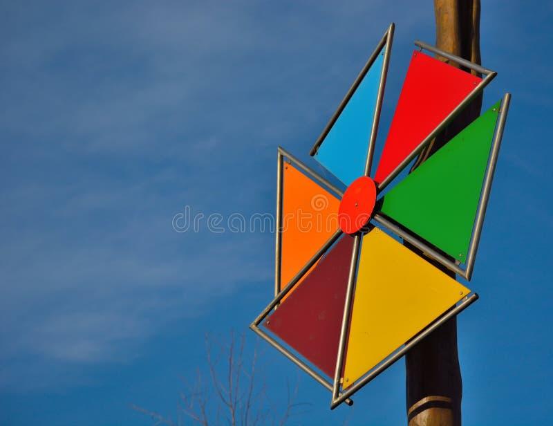Molino de viento colorido foto de archivo libre de regalías