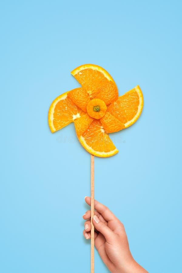 Molino de viento con sabor a fruta foto de archivo libre de regalías