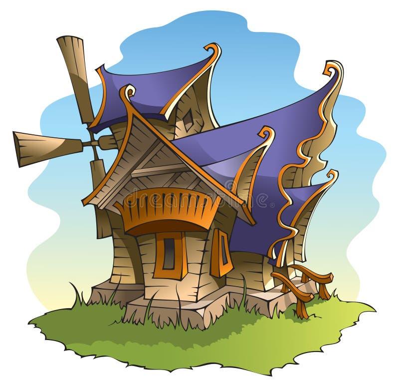 Molino de viento de hadas libre illustration