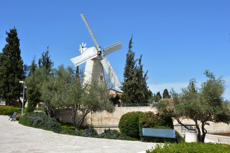 Molino de viento de Montefiore en Jerusalén Israel fotos de archivo libres de regalías