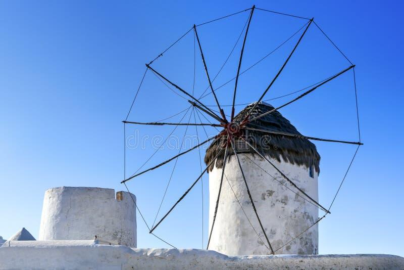 Molino de viento de Mykonos foto de archivo