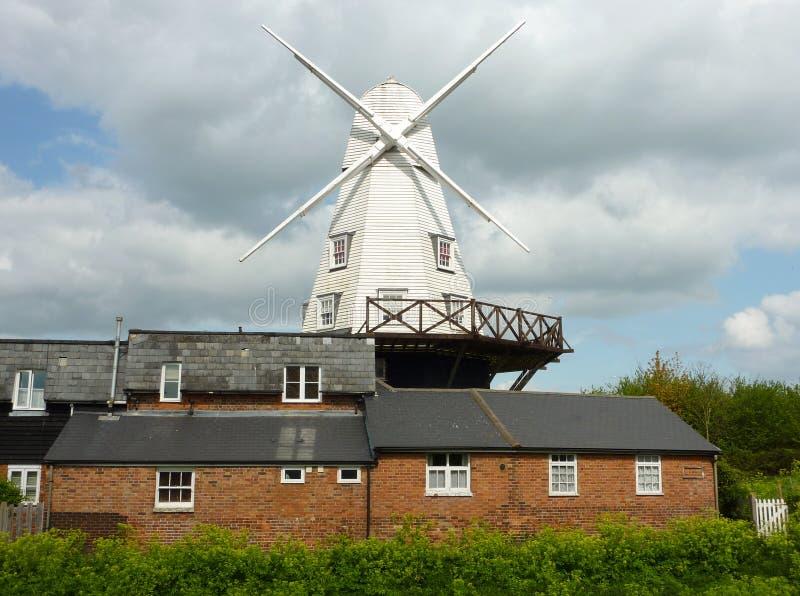 Molino de viento de Rye fotografía de archivo