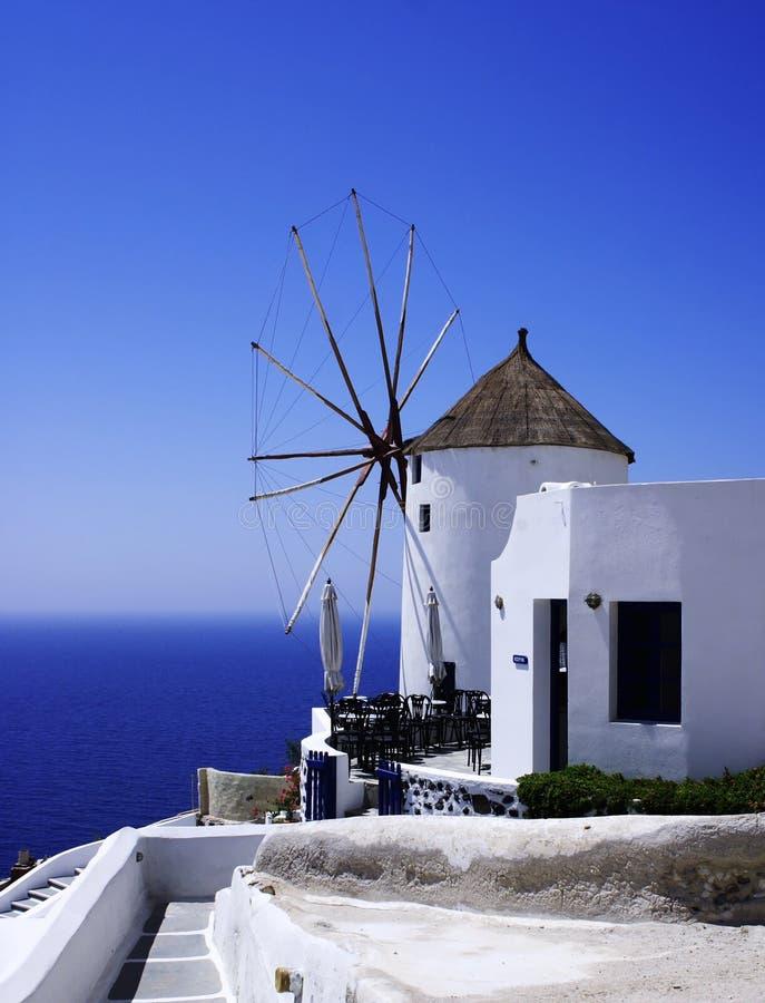 Molino de viento de Santorini fotos de archivo libres de regalías
