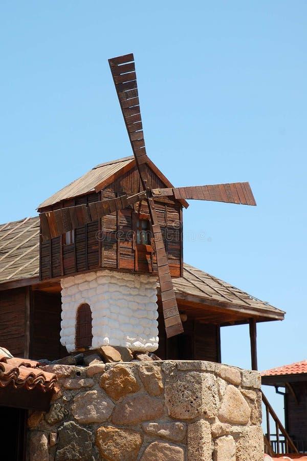 Molino de viento decorativo fotos de archivo