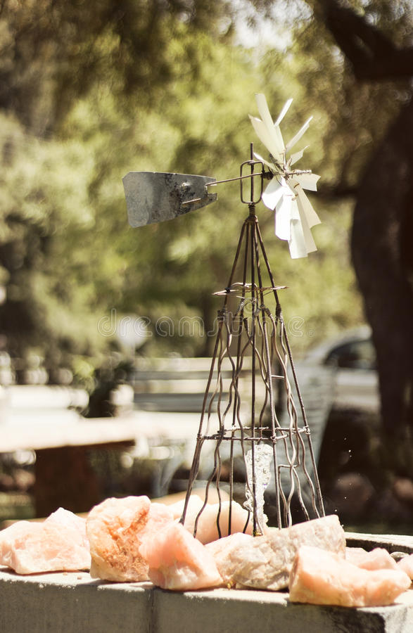 Molino de viento del amor fotos de archivo