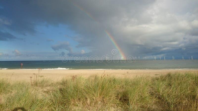 Molino de viento del arco iris fotos de archivo libres de regalías