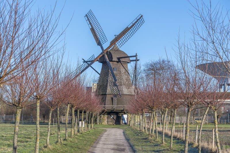 Molino de viento del museo de Fredriksdal foto de archivo