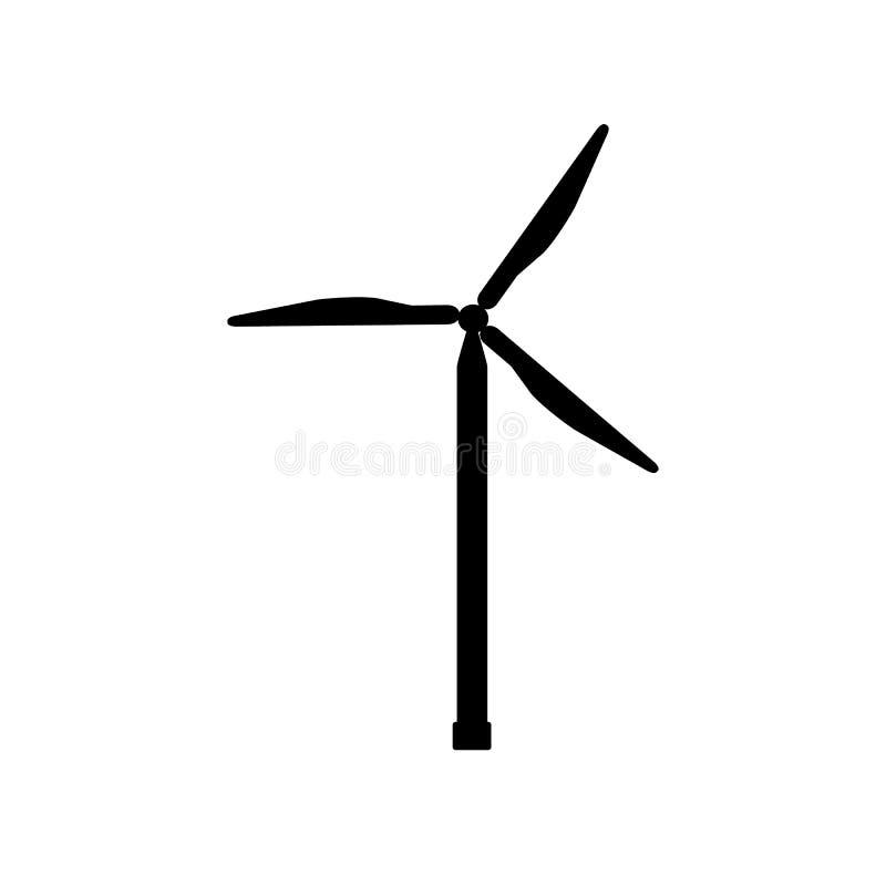Molino de viento, ejemplo de la turbina de viento, vector para diverso diseño ilustración del vector