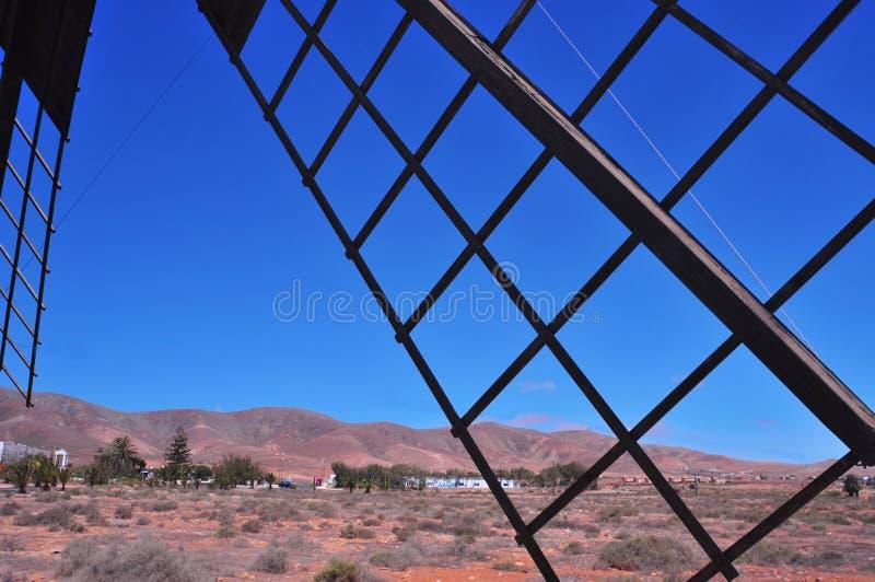 Molino de viento en Antigua, Fuerteventura fotografía de archivo libre de regalías