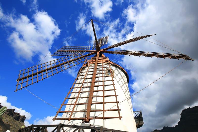 Molino de viento en Gran Canaria imagen de archivo