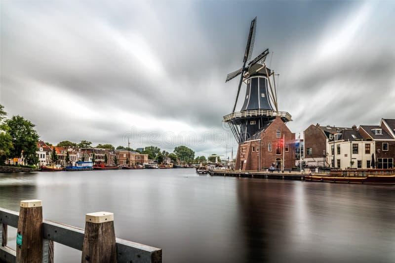 Molino de viento en Haarlem foto de archivo libre de regalías