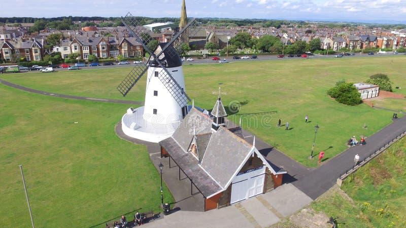 Molino de viento en Lytham fotografía de archivo