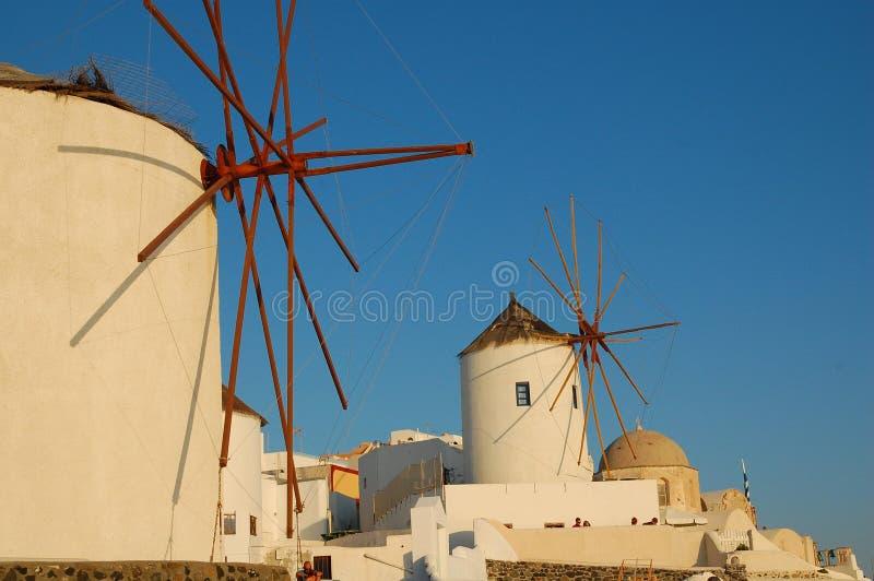 Molino de viento en Santorini fotografía de archivo libre de regalías