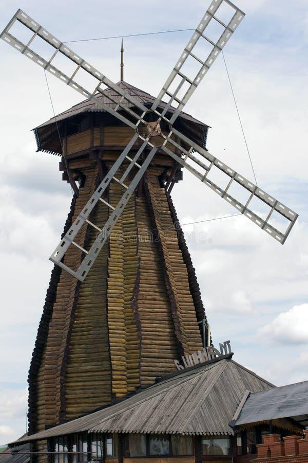 Molino de viento Izmailovo Kremlin foto de archivo