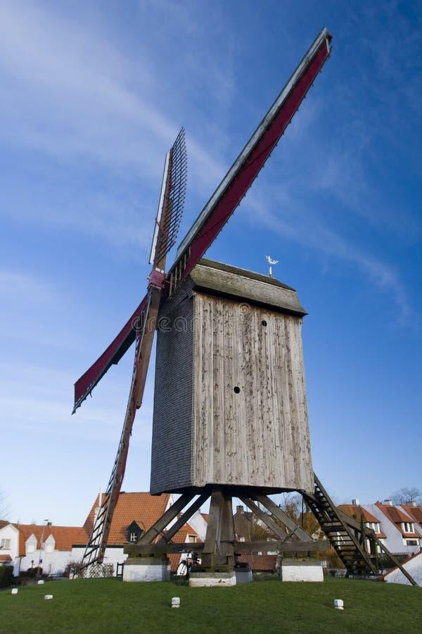 Molino de viento, Knokke, Bélgica fotografía de archivo