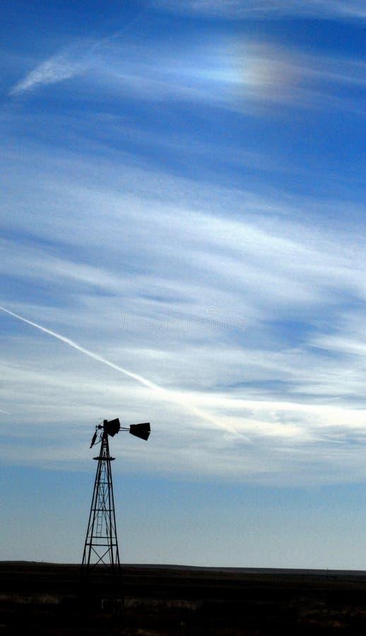 Molino de viento Sundog fotos de archivo libres de regalías